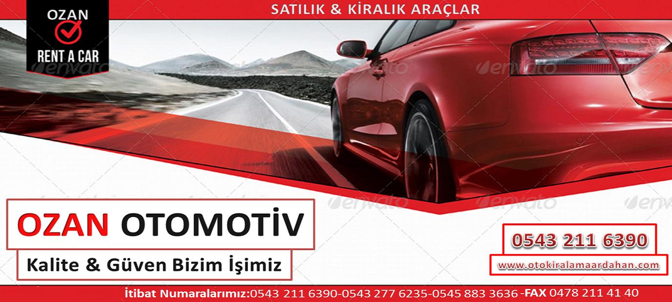 Ozan Otomotiv / Ardahan Oto Kiralama / Ardahan Rent A Car 2018 / İRTİBAT : 0545 883 3636